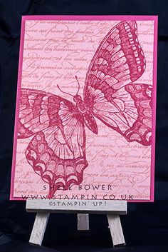 My 2nd Stampin'up! Swallowtail card. I just changed the colours.