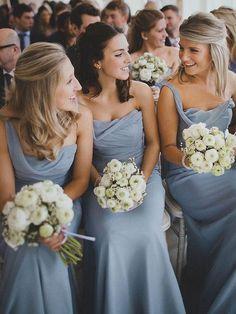 Sheath/Column Chiffon Ruffles Cheap One Shoulder Bridesmaid Dress - dressesofgirl.com