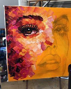 картины для интерьера # art line Keine Bildbeschreibung vorhanden. Arte Pop, Arte Inspo, Wow Art, Pics Art, Painting Inspiration, Painting & Drawing, Woman Painting, Painting Frames, Amazing Art