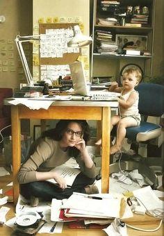 Tina Fey's workspace