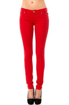 Red Skinny Jeans Women