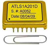 ATLS1A201D is the upgrade drop-in replacements for our CWD-01-V2 laser drivers, except that the starting up time is shorter. It is designed for driving laser diodes with low noise constant current at high efficiency. 1A specifies the maximum output current of the modules. The module is packed by a metal enclosure, emiting zero EMI, and has DIP mounting package.