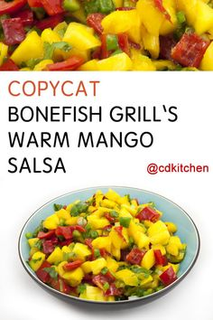 Made with red onions, mango, red peppers, mango puree, scallions, cilantro | CDKitchen.com