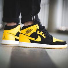 air jordan 1 negras y amarillas