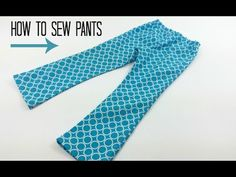 How to sew pants. All you need is a simple pants sewing pattern and this video tutorial DIY Crush - YouTube