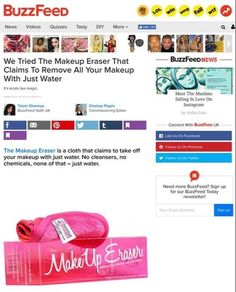 The Makeup Eraser is a worldwide success are we are proud to bring this amazing product to you here in New Zealand, Kiwi's Rock! Makeup Eraser Cloth, Buzzfeed Uk, Remove All, Quizzes, Makeup Yourself, Cleanser, Instagram, Cleaning Supplies, Cleanses