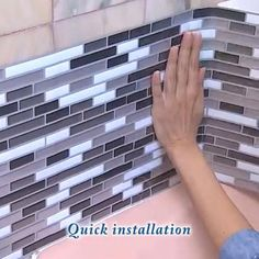 Peel And Stick Tile, Stick On Tiles, Stick Tile Backsplash, Easy Backsplash, Kitchen Backsplash, Rental Home Decor, Diy Home Decor, Home Decor Kitchen, Diy Kitchen