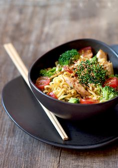 Noodles with Chicken and Vegetable