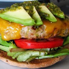 Good Golly Ms Molly! Saturday's were made for grilling and making burgers. Since we personally don't eat red meat, we make Turkey Burgers and dress them up to add extra flavor  Next time you grill burgers, add some avocado slices and top it all off with pesto! Each bite is savory & addicting.  Follow @ohpesto for more great meals, pics and recipes using #pesto.  @ohpesto  @ohpesto  @ohpesto  #saturday #grill #burgers #happiness #yum #food