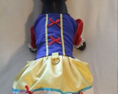Items similar to Snow White Princess Dog Dress Custom Made on Etsy