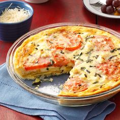 Garden Frittata Recipe -I created this dish one day to use up some fresh yellow squash, zucchini and tomato. It's so easy to make because you don't have to fuss with a crust. Give it different twist by trying it with whatever veggies you have on hand. —Catherine Michel O'Fallon, Missouri