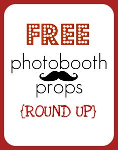 FREE photo booth props - printable