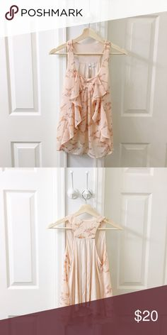 Pretty Birds 🐦 Flutter Top by LC 🍑 Size Small 🍑 Color: Blush, Pink on Pink  🍑 EUC   ✨ Price is FIRM unless bundled  ✨ All items from a smoke free home  ✨ Please ask questions prior to purchase LC Lauren Conrad Tops