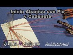 Inicio de Abanico con cadeneta - bolillotutorial Raquel M. Adsuar Bolillotuber - YouTube Lace Heart, Lace Jewelry, Lace Making, Bobbin Lace, Lace Detail, Lana, Youtube, Bobs, How To Make
