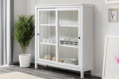 IKEA Hemnes vitrinskåp vitbets