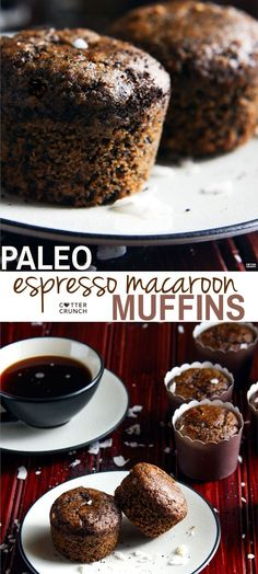A Light and Healthy Dessert For Coffee Lovers! Paleo Espresso Macaroon Muffins .  @cottercrunch