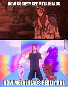 How the world sees metalheads vs. How they really are.
