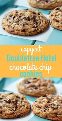 Perfect Chocolate Chip Cookies, Chocolate Chip Oatmeal, Doubletree Chocolate Chip Cookie Recipe, Butterscotch Cookies, Baking Recipes, Cookie Recipes, Dessert Recipes, Baking Ideas, Drink Recipes