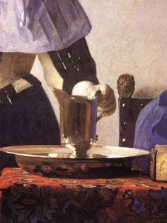 Young Woman with a Water Jug [detail: 1] by Johannes Vermeer #art