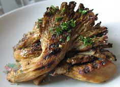 Grilled Oyster Mushrooms -- Recipe from Chris Clark's Nutrition Grail blog @nutrigrail