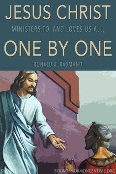 """Concerning Christ's visitation to the Nephites, Elder Ronald A. Rasband concluded, """"Certainly, there is a very profound and tender personal message here. Jesus Christ ministers to, and loves us all, one by one."""" Just as Christ ministered to the Nephites at the temple, so can He minister to us in our temples. https://knowhy.bookofmormoncentral.org/content/why-did-jesus-minister-to-the-people-one-by-one #Christ #Jesus #Savior #Comforter #BookofMormon #LDS #Faith #ShareGoodness #Mormon"""