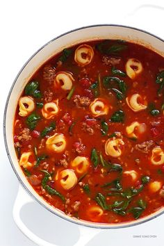 ... hour. • TORTELLINI SOUP WITH ITALIAN SAUSAGE, SPINACH AND... More