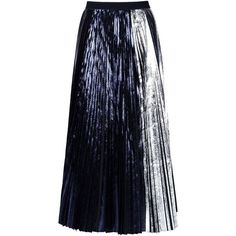 Proenza Schouler Long Skirt (15 105 UAH) ❤ liked on Polyvore featuring skirts, maxi skirts, black, long colorful skirts, long pleated skirt, floor length skirts, multi color maxi skirt and zipper skirt