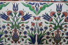 Iznik Tiles from the Tomb of the Ottoman Sultan Mehmet III