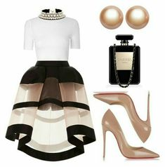 A fashion look from December 2015 by kimeechanga featuring Glamorous, Delpozo, Christian Louboutin, SHOUROUK, Amour de Pearl and Chanel Lila Outfits, Classy Outfits, Chic Outfits, Fashion Outfits, Work Outfits, Summer Outfits, Look Fashion, Runway Fashion, Womens Fashion
