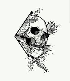 Where do I start drawing pencil drawing? How do I draw? Art Drawings Sketches, Tattoo Sketches, Tattoo Drawings, Cool Skull Drawings, Dark Art Drawings, Skull Tattoo Design, Skull Tattoos, Tattoo Designs, Skull Design