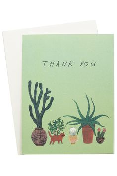 Cutest cacti thank you notes.