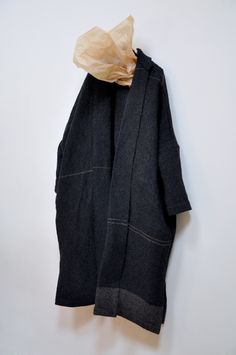 Amy Revier | Martin Coat, raw silk, paper, & linen, one of a kind garment, made entirely by hand (handwoven & hand sewn in London | available at Dover Street Market)