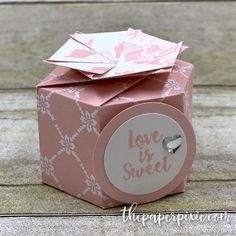Hexagon Favour Box with Video