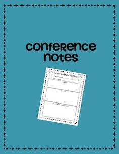 Conferencing Note Freebie