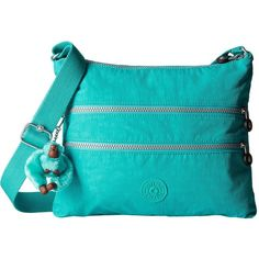 a304e742e713 Kipling Alvar Crossbody Bag (Cool Turquoise) Cross Body Handbags ( 53) ❤  liked on Polyvore featuring bags
