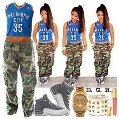 OKC Thunder, #35., created by dopegenhope on Polyvore