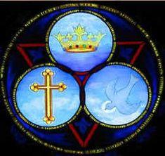 Holy trinity stained glass   the holy trinity trinity sunday