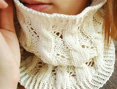 knitted cabled cowls - Google Search