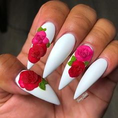 Beautiful nails by Ugly Duckling Nails page is dedicated to promoting quality, inspirational nails from a vast array of International artists. Nails Rose, 3d Nails, Stiletto Nails, Acrylic Nails, Nail Nail, Glitter Nails, Coffin Nails, Gold Glitter, Fabulous Nails