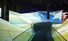 3D topographical folding map projections - expo in yeosu