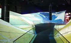 3D topographical folding map projections - expo in yeosu #installazioni #musei #interazione