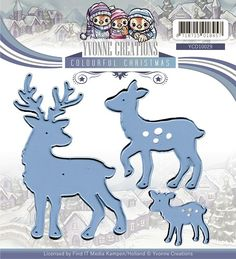 Yvonne Creations - YCD10029 Colourful Christmas - Reindeer