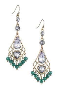 Danielle Stevens Multi-Shape Glass Chandelier Earrings :: love the colors