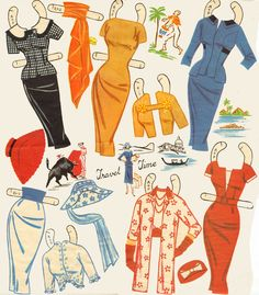 Fashions for the Modern Miss 1957 Saalfield #2766 m - Bobe - Picasa Webalbum