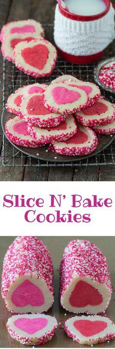 Slice N' Bake Cookies #cookies #dessert #foods Dessert Ideas, Dessert Recipes, Desserts, Good Food, Yummy Food, Decadent Cakes, Holiday Snacks, No Bake Cookies, Macaroons