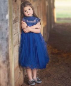 Loving this Cobalt Lace Allessandra Dress - Infant, Toddler & Girls on #zulily! #zulilyfinds
