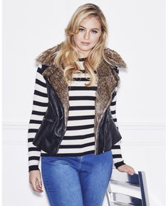 """Lovedrobe"" Lovedrobe PU Gilet at Simply Be"
