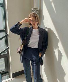Stylenanda Korea, Angelina Danilova, White Girls, Girl Photos, Art Girl, Normcore, Hair Beauty, Ruffle Blouse, Louis Vuitton