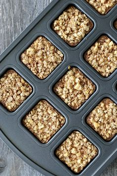 Gluten-free apple cinnamon baked oatmeal squares can be made one day and enjoyed for breakfast the next few days! Soft, chewy, and full of cinnamon apple chunks! Gluten Free Diet Plan, Lactose Free Diet, Gluten Free Recipes, Gf Recipes, Bean Recipes, Muffin Recipes, Healthy Food Habits, Healthy Food Choices, Good Healthy Recipes