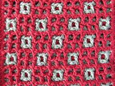 Wind Rose Fiber Studio: Stars & Squares ~ Interlocking Crochet
